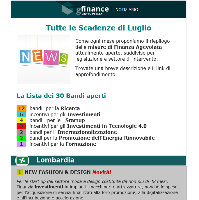 Newsletter Gfinance